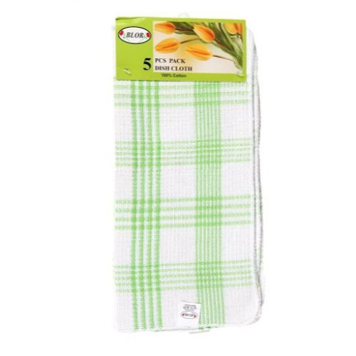 Blor Kitchen Towel - Tulips Green, 5 pcs