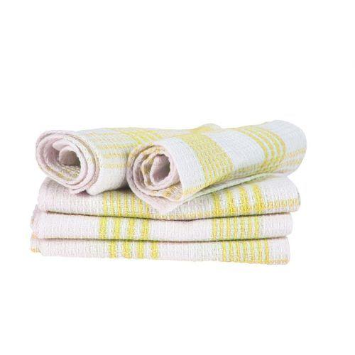 Blor Kitchen Towel - Tulips Yellow, 5 pcs