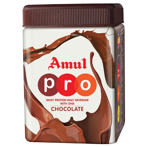 Amul Pro Whey Protein - Malt Beverage Health Drink With Dha - Chocolate, 500 g Jar