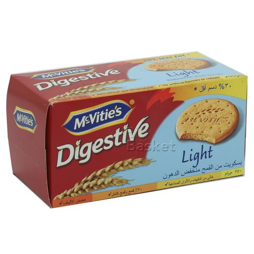 Mcvities Digestive Biscuits - Light (Imported), 250 g Carton