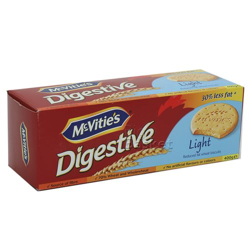 Mcvities Digestive Biscuits (Imported)-Light, 400 g Carton
