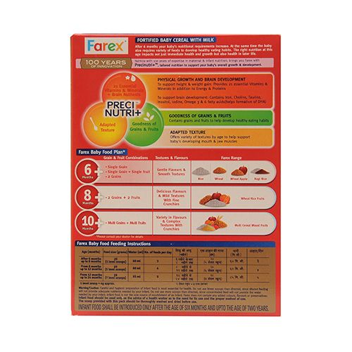 Farex Milk Cereal Based Complementary Food - Rice - (Stage1), 300 gm Carton