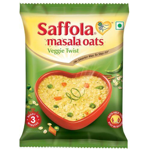 Saffola Masala Oats - Veggie Twist, 39 g Pouch