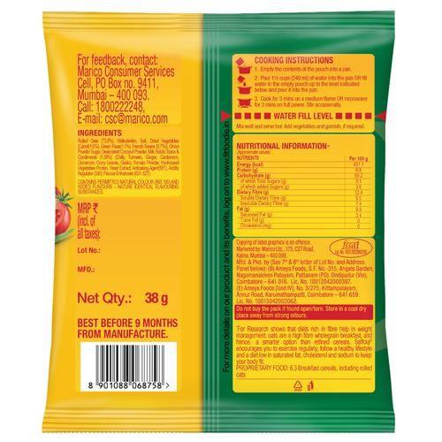 Saffola Masala Oats - Veggie Twist, 38 g
