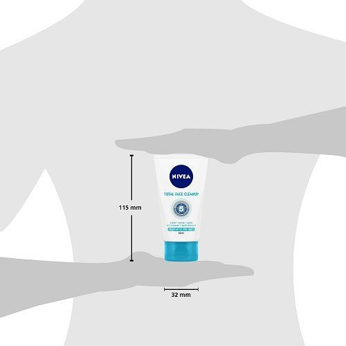 Nivea Total Face Clean Up 3-In-1 Face Wash - Wash, Scrub & Pack, 50 ml