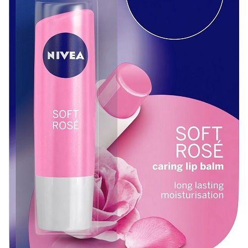 Nivea Soft Rose Caring Lip Balm, 1 pc