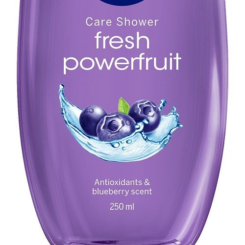 Nivea Fresh Powerfruit Shower Gel - With Blueberry Scent, 250 ml