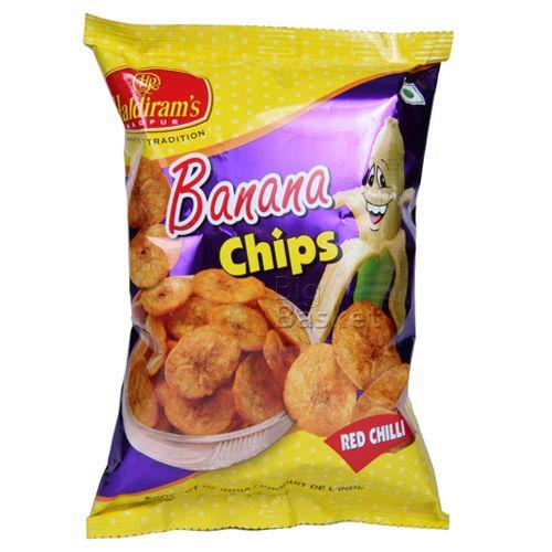 Haldirams  Banana Chips - Red Chilli, 40 gm Pouch