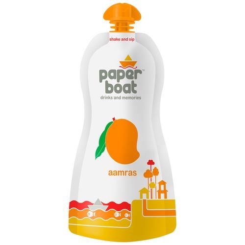 Paper Boat Fruit Juice - Aamras - Mango Drink, 200 ml Pouch