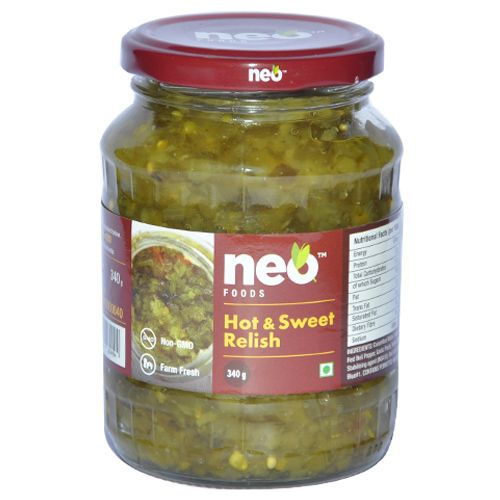 Neo Hot & Sweet Relish, 340 g Jar