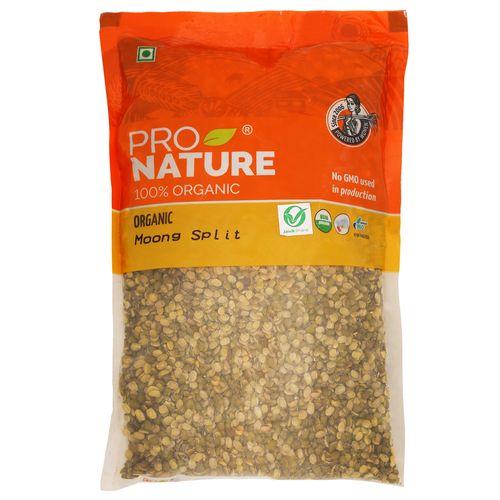 Pro Nature Organic Moong - Green (Split), 500 gm Pouch