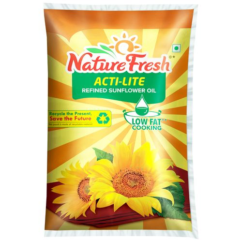fresh oil nature acti lite sunflower refined pouch bigbasket edible oils ltr