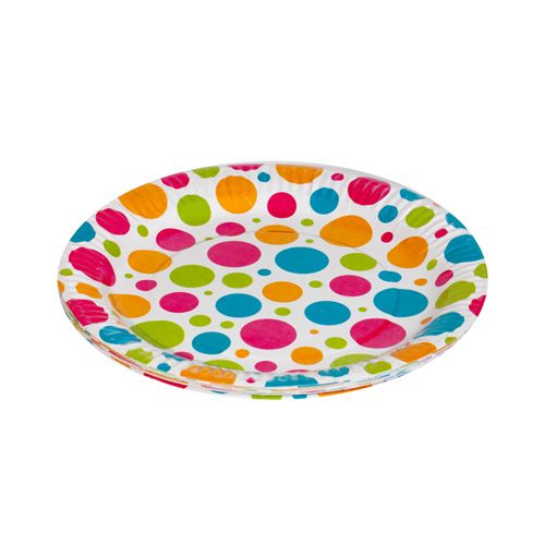 Origami Printed Paper Party Plates - 19 cm, 10 pcs
