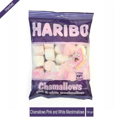Haribo Chamallows - Pink & White Marshmallows, 150 g Pouch