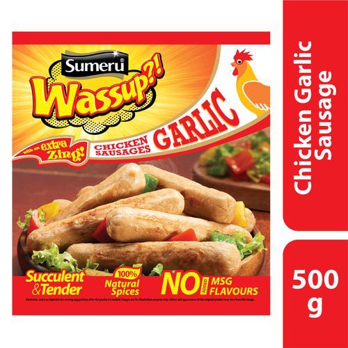 sumeru Chicken Garlic Sausages, 500 gm Pouch