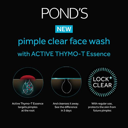 Ponds Face Wash - Pimple Clear White, 50 g Tube