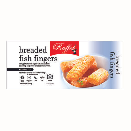 Buffet  Fish Fingers - Breaded, 250 gm (10 pcs) Pouch