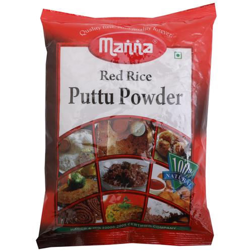Manna  Puttu Powder - Red Rice, 500 g Pouch