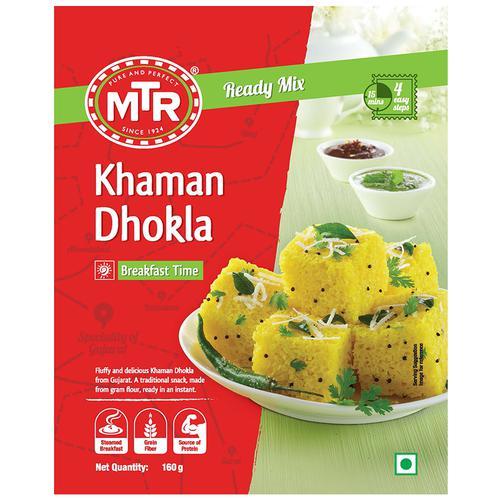 MTR Breakfast Mix - Khaman Dhokla, 160 g Pouch