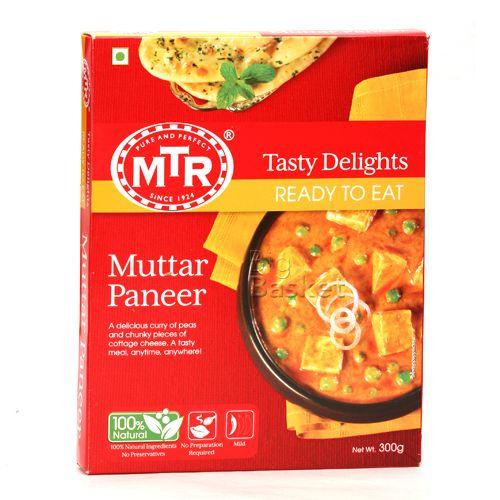 MTR Ready To Eat - Muttar Paneer, 300 gm Carton