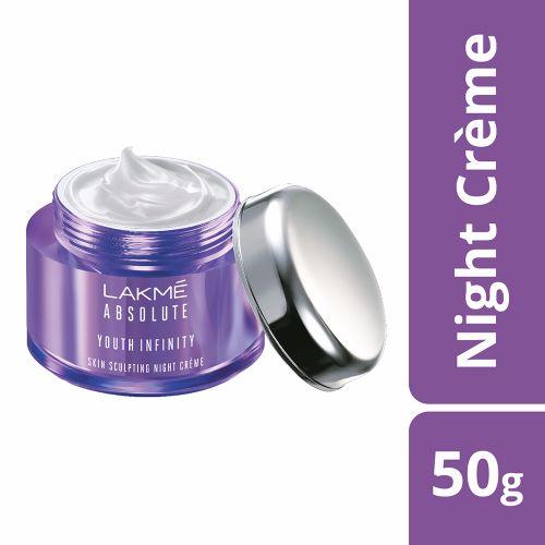 Lakme Creme - Night, Youth Infinity Skin Firming, 50 gm Bottle