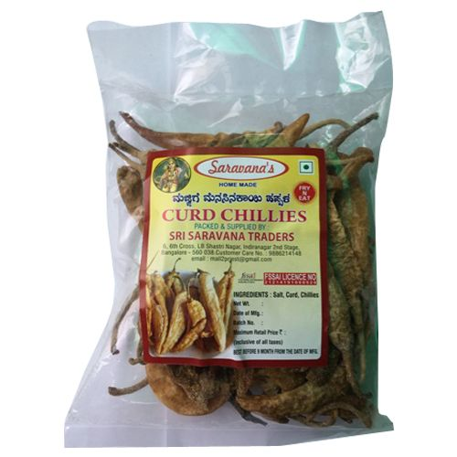 Saravanas Chillies - Curd, 100 gm Pouch