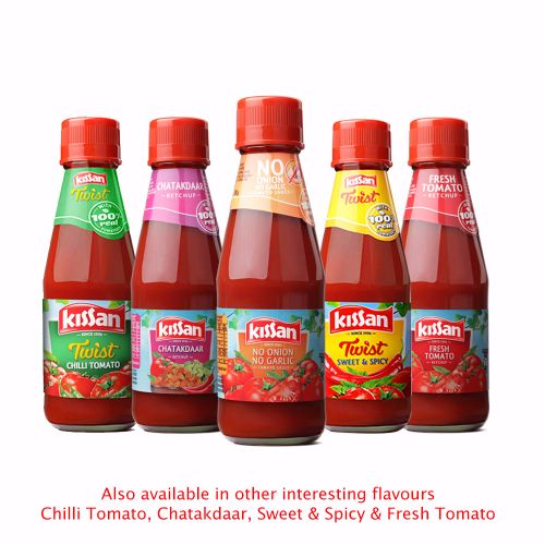 Kissan Sauce - No Onion No Garlic, 200 gm bottel