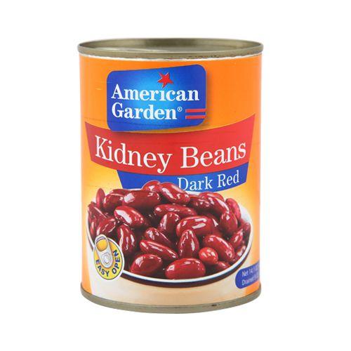 American Garden  Kidney Beans - Dark Red, 400 gm Bottle