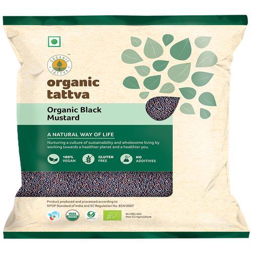 Organic Tattva Organic Seeds - Black Mustard/Sasive, 100 g Pouch