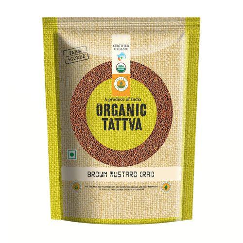 Organic Tattva Organic Seeds - Brown Mustard, 100 g Pouch