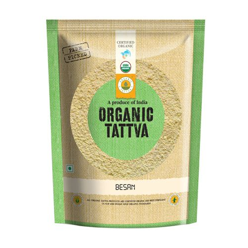 Organic Tattva Organic Besan, 500 g Pouch