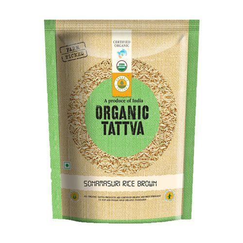 Organic Tattva Organic Sona Masuri - Brown, 1 kg Pouch