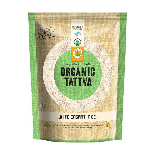 Organic Tattva Organic Basmati Rice - White, 1 kg Pouch