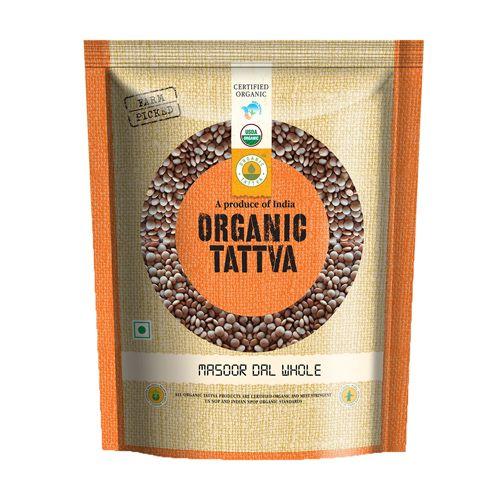 Organic Tattva Organic Masoor - Sabut(Whole), 500 g Pouch