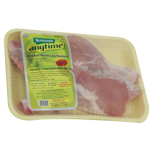 Suguna Anytime - Chicken Whole Leg (Skinless), 450 g Carton