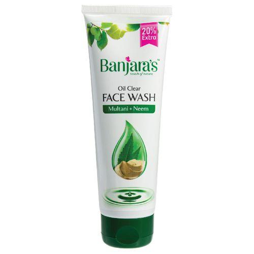 Banjara's Multani Mitti + Neem Oil Clear Face Wash, 100 ml