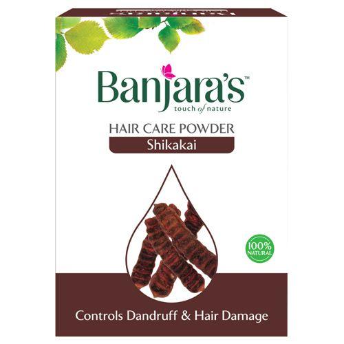 Banjara's Shikakai Hair Care Powder - Pure Herb, 20 gm Pack of 5