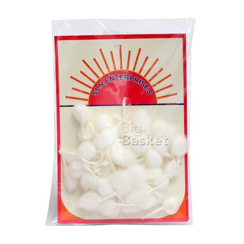Sln   Batti - Cotton round, 50 pcs Pouch