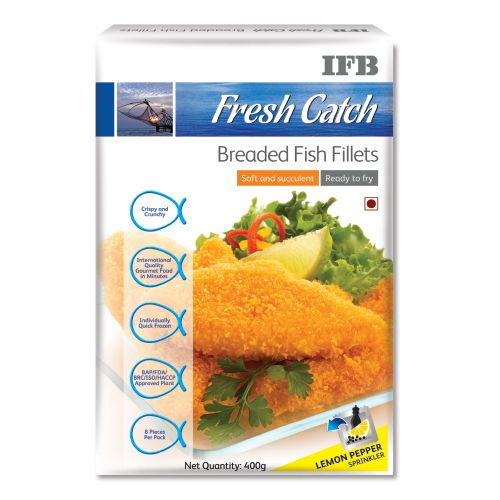 Ifb Fresh Catch Breaded Fish Fillets, 200 gm 4 pcs