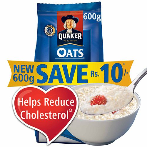 Quaker Oats, 600 gm Pouch