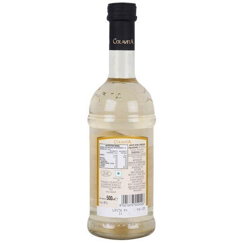 Colavita Vinegar - White Wine (Product of Italy), 500 ml Bottle
