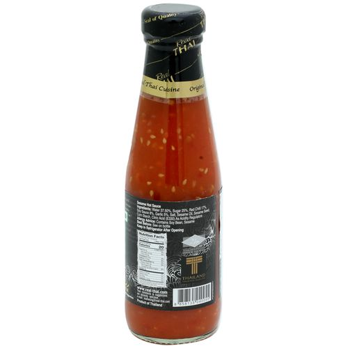 Real Thai Sauce - Sesame Hot, 200 ml Bottle