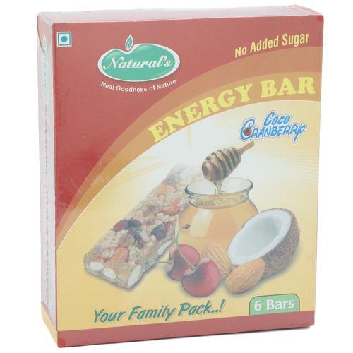 Naturals Energy Bar - Coco Cranberry, 180 gm Carton
