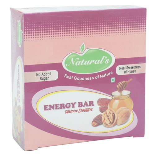 Naturals Energy Bar - Walnut Delight Real Sweetness of Honey, 360 g Carton