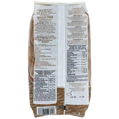Colavita Penne Rigate - Whole Wheat, 500 g Pouch