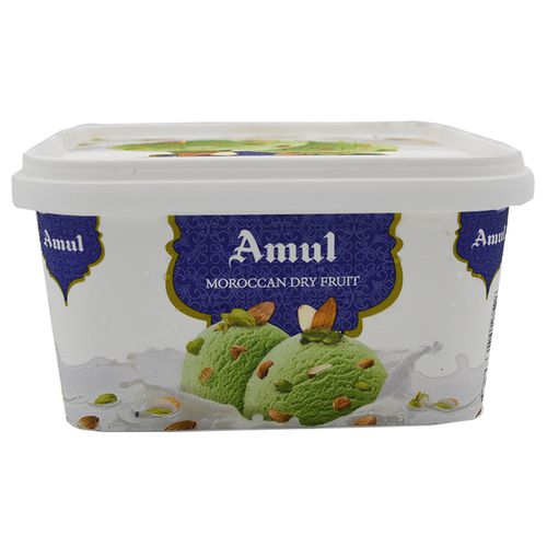 Amul Real Ice Cream - Moroccan Dry Fruit, 1 L Tub