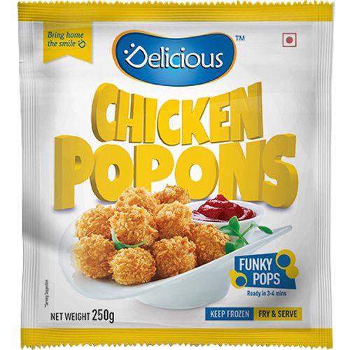Delicious Pop Corn - Chicken, 250 g Pouch