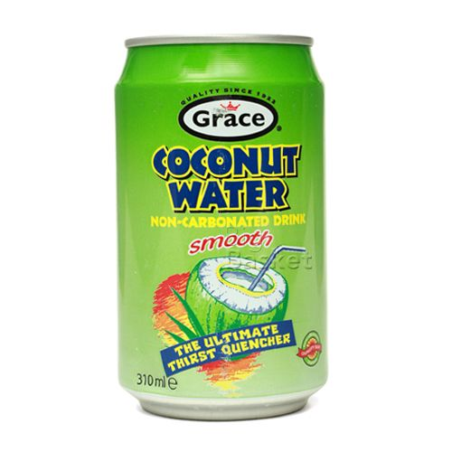Grace Coconut Water - Non Carbonated Drink Smooth, 310 ml Tin