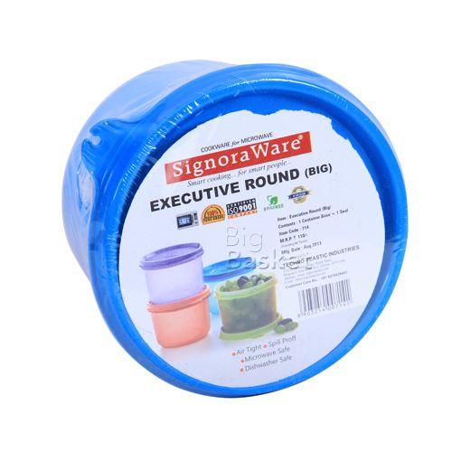 Signoraware 714 Executive - Round Lunch Box (Big), 1 pc