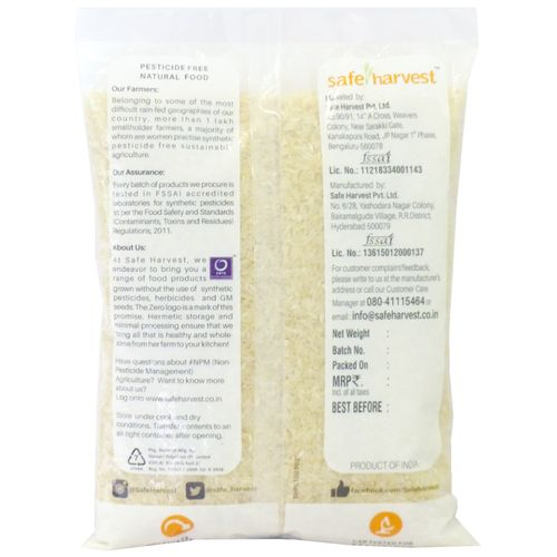 Safe Harvest Sona Masuri Raw Rice/Akki - 18 Months, Pesticide Free, 1 kg
